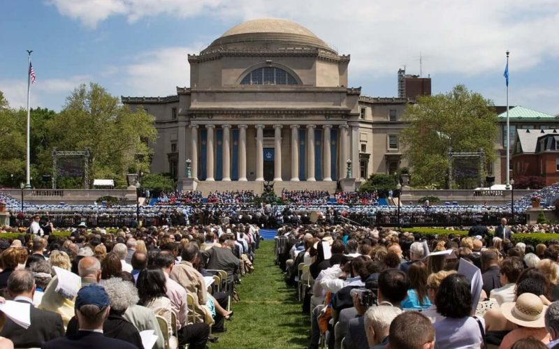 Medical school in New York on graduation day