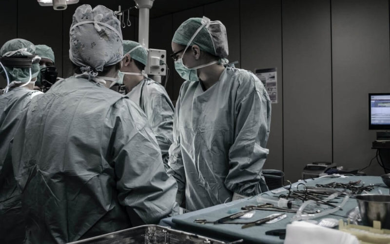 Group of doctors in the operating room